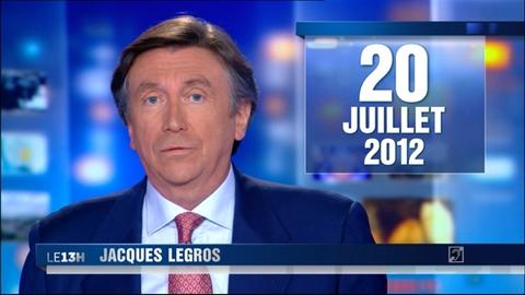 Le 13 heures du 20 juillet 2012