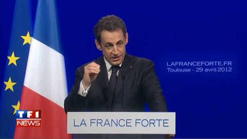 """1er Mai : Sarkozy tacle Hollande qui """"défilera derrière les drapeaux rouges de la CGT"""""""