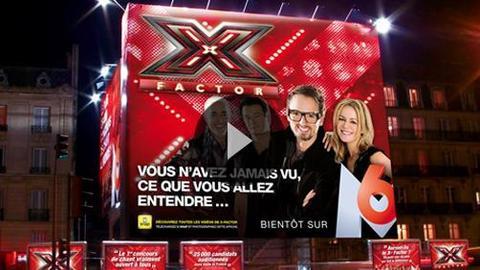 350 m2 de pub pour X Factor sur M6