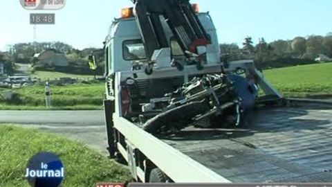 Accident sur la départementale 7 (Indre-et-Loire)