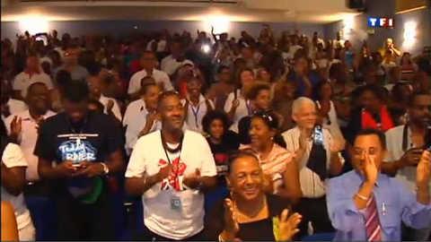 Accueil chaleureux pour Teddy Riner en Guadeloupe