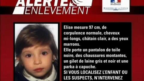 Alerte enlèvement: Elise, 3 ans et demi a disparu