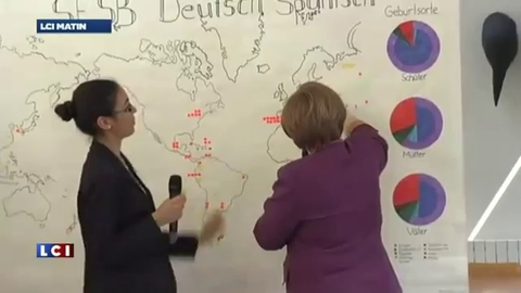 Angela Merkel ne sait pas situer Berlin sur une carte