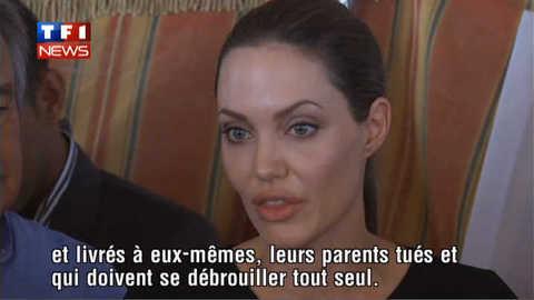 Angelina Jolie défend les enfants syriens, au bord des larmes