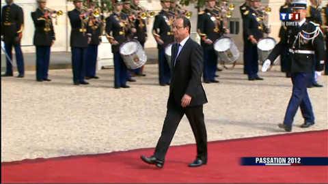 L'arrivée de François Hollande à l'Elysée