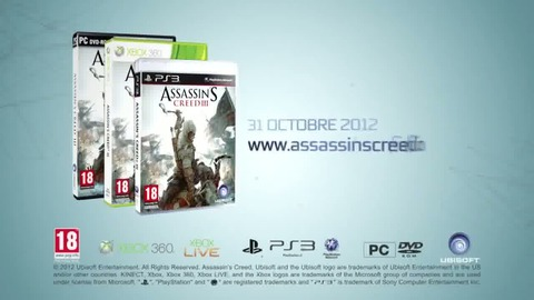 Assassin's Creed III - Unite to Unlock the World Gameplay Premiere - FR - PS3 Xbox360 PC.mp4