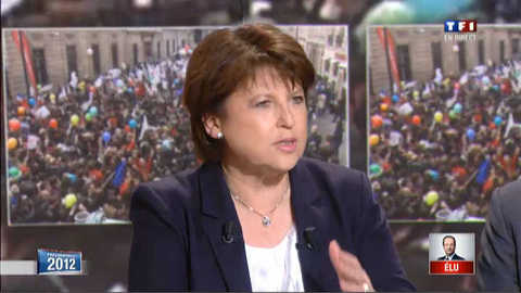 """Aubry : """"mes félicitations les plus chaleureuses à François Hollande"""""""
