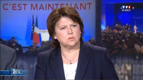 "Aubry : ""un terrible désavoeu à Nicolas Sarkozy"""