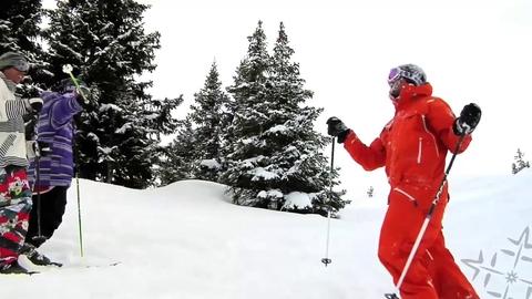 Awesome Ski Double Back Crash!
