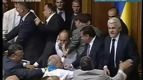 Bagarre au Parlement ukrainien