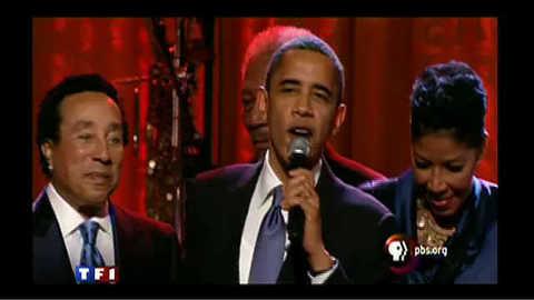 Barak Obama chante pour les droits civiques