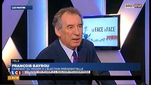 """Bayrou sur Sarkozy: """"prendre aux pauvres pour donner aux pauvres"""""""