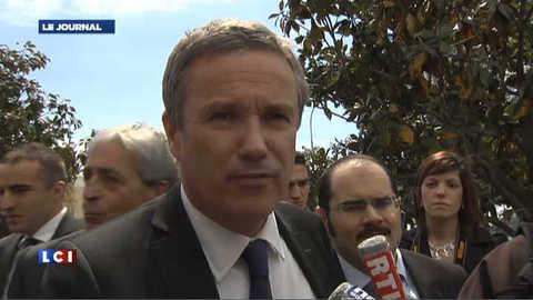"""BCE : """"Hollande et Sarkozy manipulent les foules"""" dit Dupont-Aignan"""