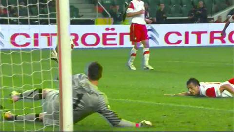 But de Jodloviec (csc)Pologne 0-1 France, 12ème