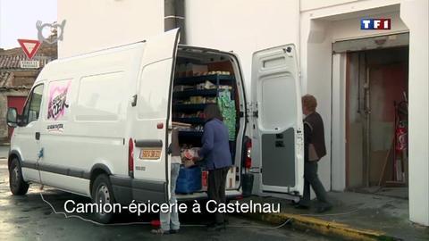 Camion-épicerie à Castelnau - Au coeur... des Restos du coeur