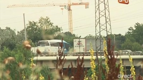 Un camion prend feu sur l'A9