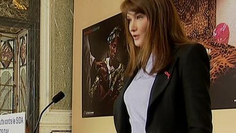 Carla Bruni Sarkozy s'engage contre le SIDA
