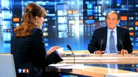 Carla Bruni-Sarkozy et Jean-Pierre Pernaut