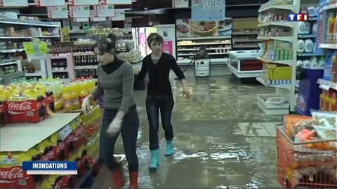 Chalais inondé par les fortes pluies