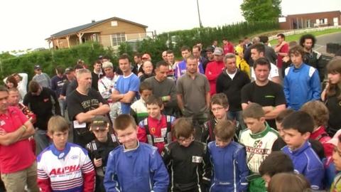 Chpt régional Auvergne de karting à Marcillat: ambiance paddock