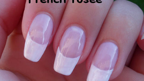 comment faire une french manucure ongles longs
