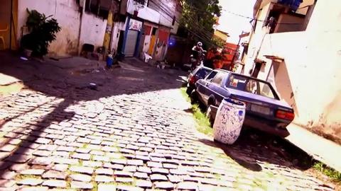 Démonstation de moto trial au Brésil par Julien Dupont