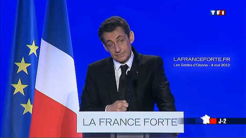 Dernier tacle de campagne de Sarkozy à Hollande