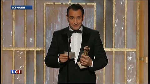Discours de Jean Dujardin au Golden Globes