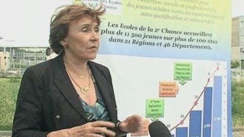 Edith Cresson en visite à Clermont