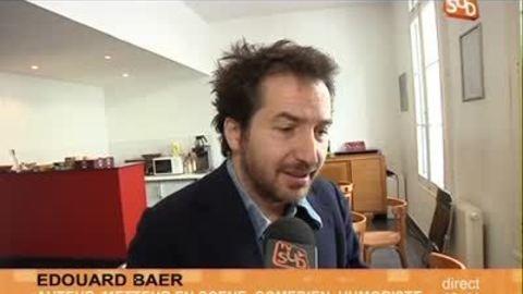 Édouard Baer prépare son spectacle au théâtre de Nîmes