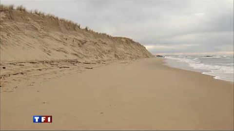 Effondrement d'une dune du Cap-Ferret