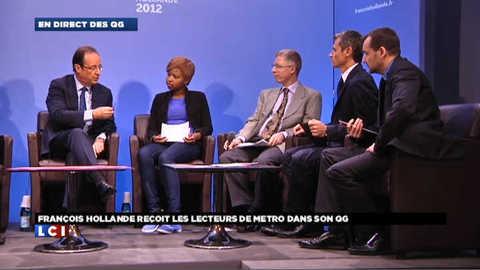En direct du QG de campagne de François Hollande