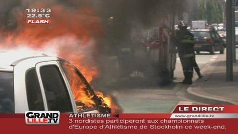 Enceinte, sa voiture prend feu ! (Tourcoing)