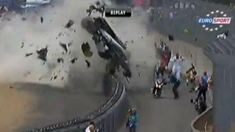 Enorme crash aux 24 heures du Mans