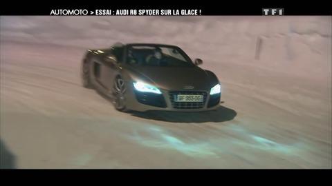 Essai Vidéo : l'Audi R8 sur circuit de glace (19/02/2012)