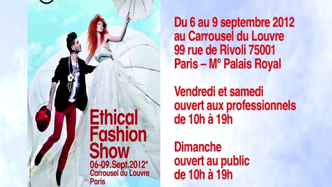 Ethical Fashion Show : edition de septembre 2012