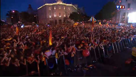 Euro 2012 : En France, la prime des Bleus gelée, en Espagne c'est la fête