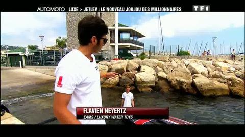 Exclusif : le Jetlev, pour voler sur la mer (21/08/2011)