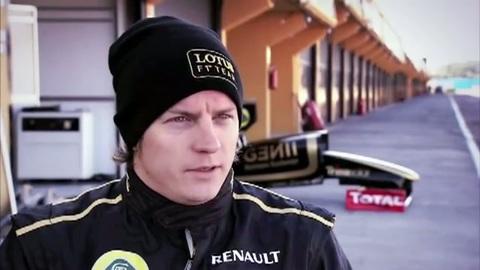 F1 : 1ères images du retour de Räikkönen chez Lotus