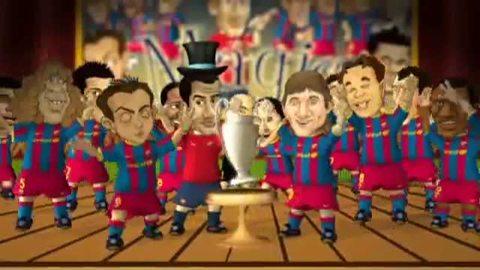 Le FC Barcelone lance ses « Barça Toons » à l'assaut de Wembley