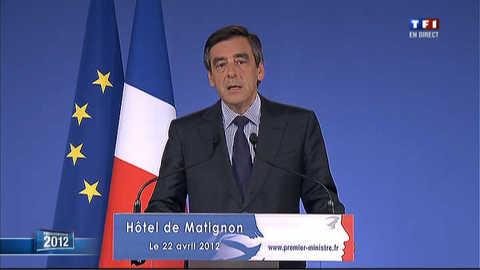 """Fillon appelle à voter Sarkozy le 6 mai pour """"l'idéal républicain"""""""