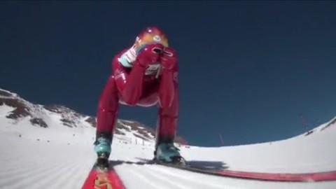 La finale de la coupe du monde de ski de vitesse en mode GoPro