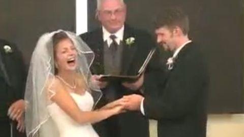 fou rire - mariage