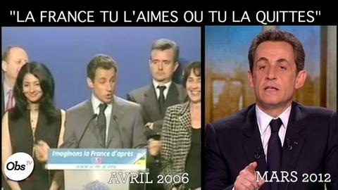"""""""La France tu l'aimes ou tu la quittes"""" : Sarkozy ne l'a jamais dit?"""