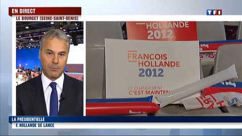 François Hollande en meeting de campagne : l'ambiance au Bourget