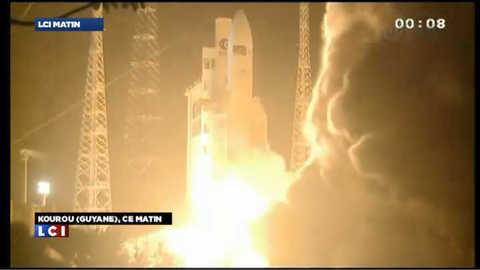 La fusée Ariane 5 en route vers l'ISS