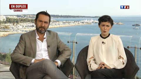 Gilles Lellouche et Audrey Tautou présentent le dernier Miller à Cannes