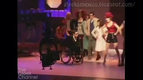 Glee - 2x05 - The Rocky Horror Glee Show - Coulisses