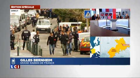 """Le grand Rabbin de France """"horrifié"""" par la fusillade de Toulouse"""