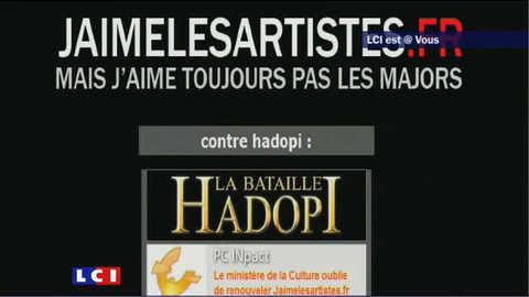 Hadopi : le site du gouvernement piraté (LCI est @ Vous)